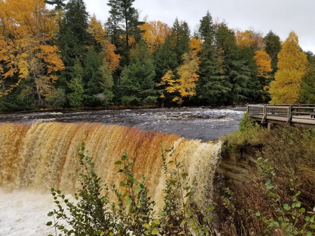 Upper Tahquamenon Falls in the fall.