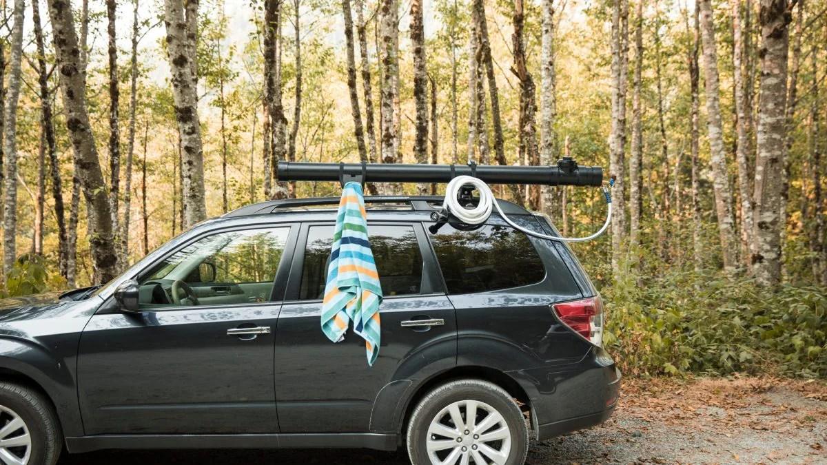diy camp shower for your car or van