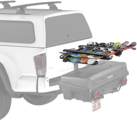 trailer hitch ski and snowboard racks