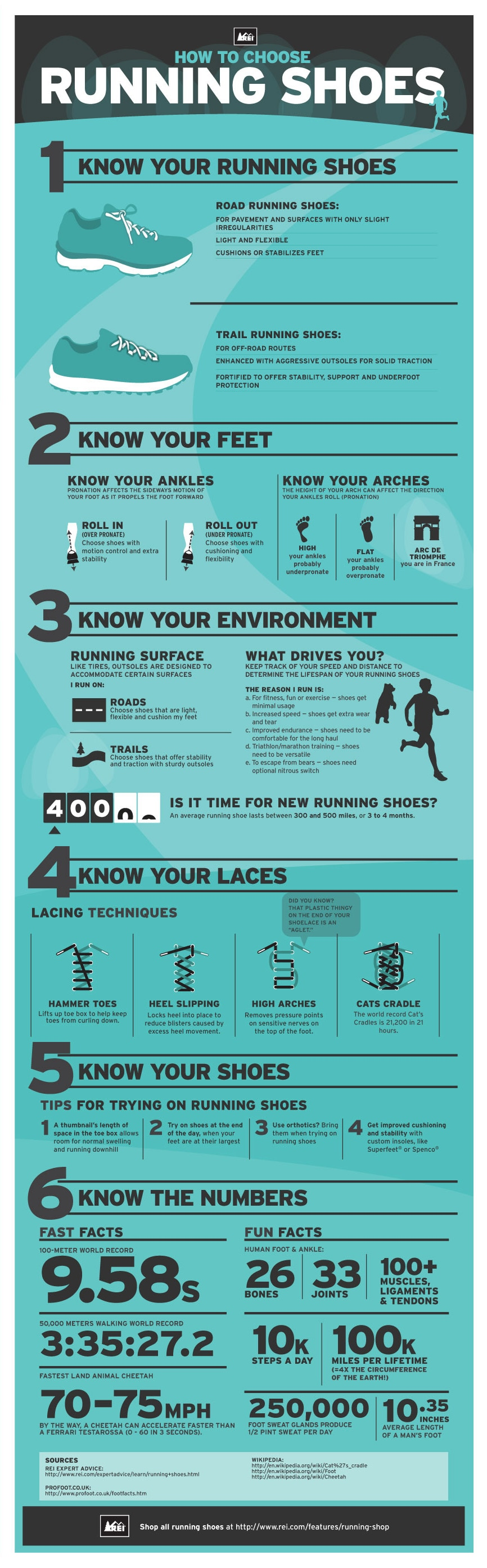 Running Shoes Infographic: How to Choose the Best Running Shoes