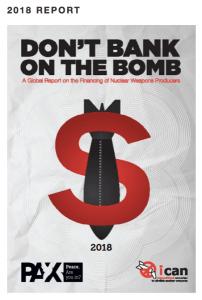 """PAX und ICAN bitten: """"Don't Bank on the Bomb"""". Der norwegische Ölfonds macht's vor. (Bild: Pax)"""