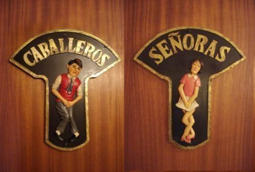 Imagens legais de banheiros femininos e masculinos
