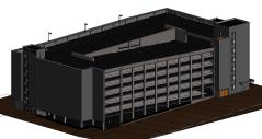 Concrete Garage Architect Model