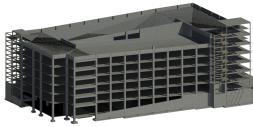 Structural Concrete Garage 3D Model
