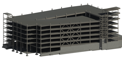 Structural Steel Garage 3D Model