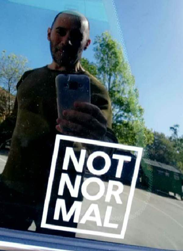 Reid Walley NOT NOR MAL Sticker