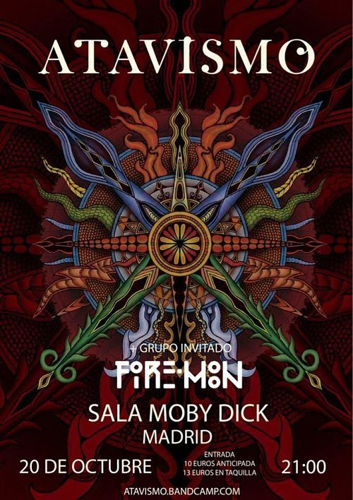 Crónica Atavismo + Fire Moon - Moby Dick, Madrid (20/10/2018)