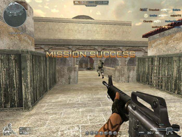 A screenshot of the in-game action.