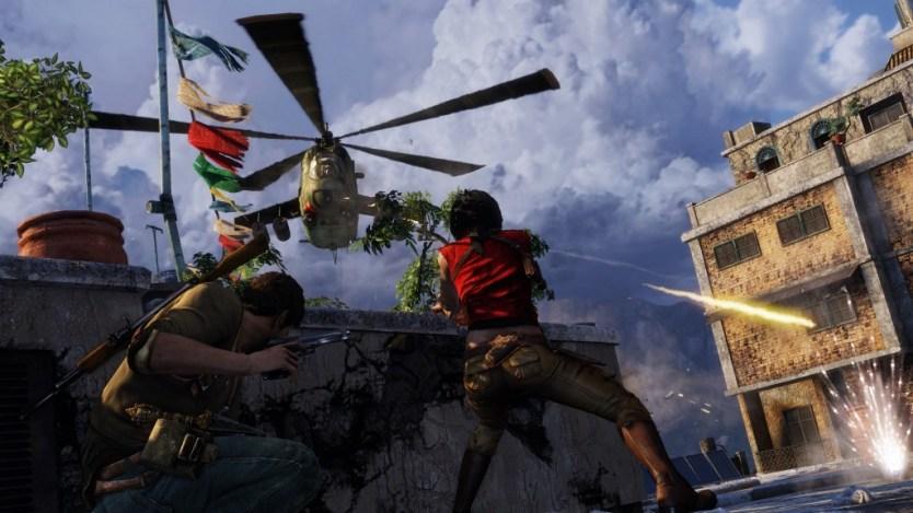 Uncharted 2 UNDC Warzone Demo_Chloe Helicopter