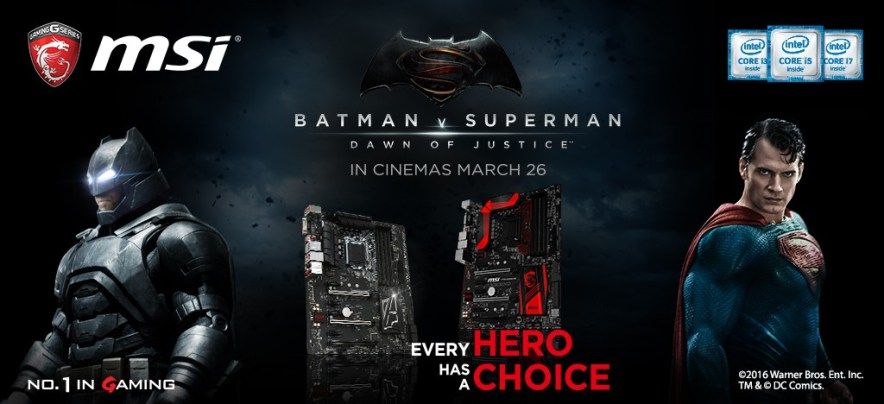 MSI x Batman v Superman