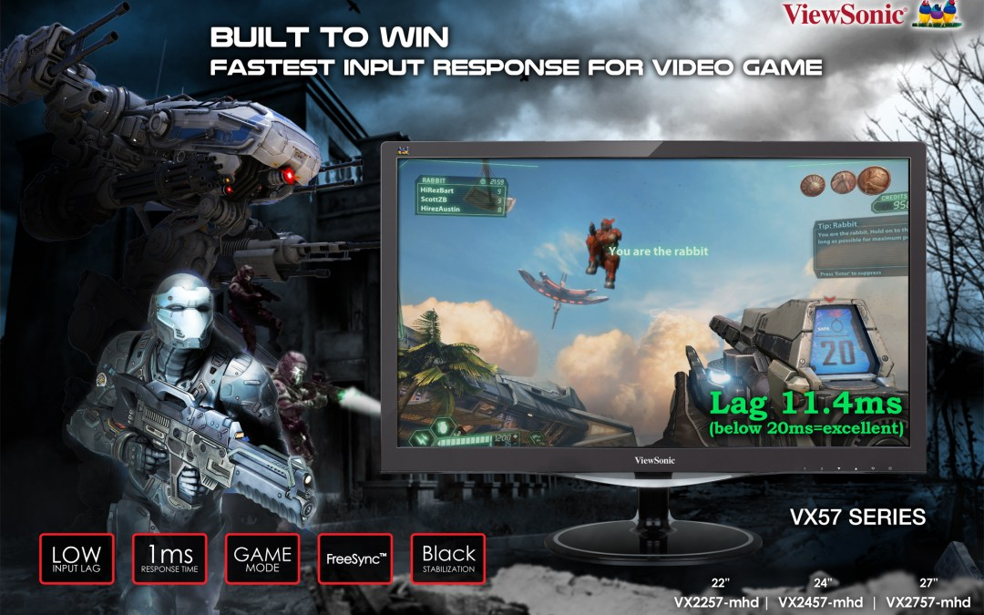 ViewSonic Launches the Ultra-Fast VX57 Series Gaming Monitor