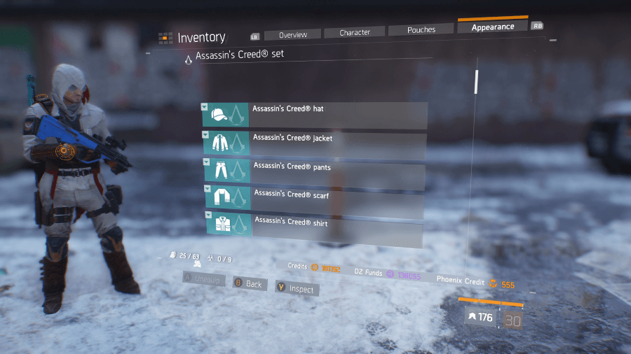 The Division has Assassin's Creed and Splinter Cell Outfits