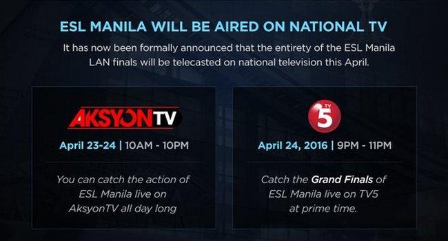 tv5 esl manila schedule