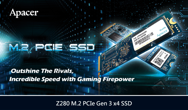 Apacer Z280 M.2 PCIe Gen 3 x4 SSD Outshine the Rivals, Incredible Speed with Gaming Power