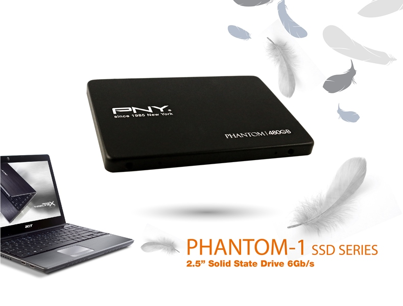 """PNY launches Phantom-1 2.5""""  Solid State Drive (SSD)"""
