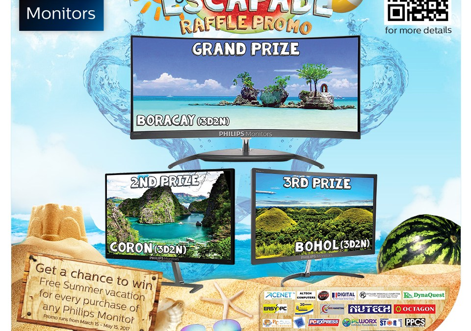 Join Philips Monitors Summer Escapade Raffle