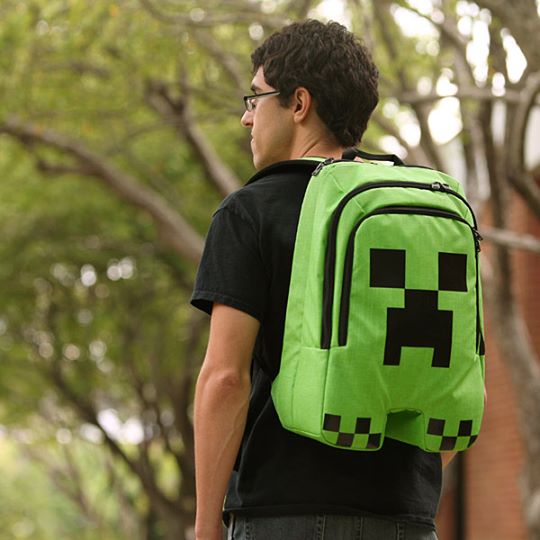 minecraft creeper backpack by geek universe