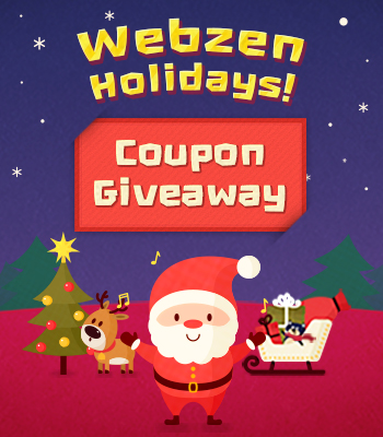 Webzen Holiday Coupon 2018 Giveaway