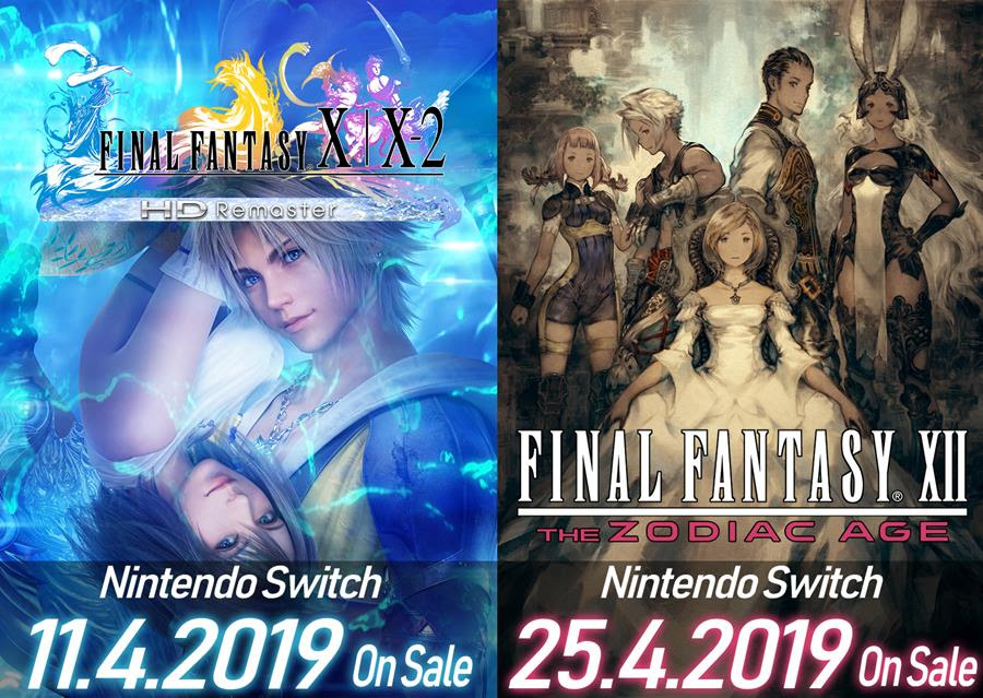 Release Dates for Final Fantasy X/X-2 and XII for Switch Revealed