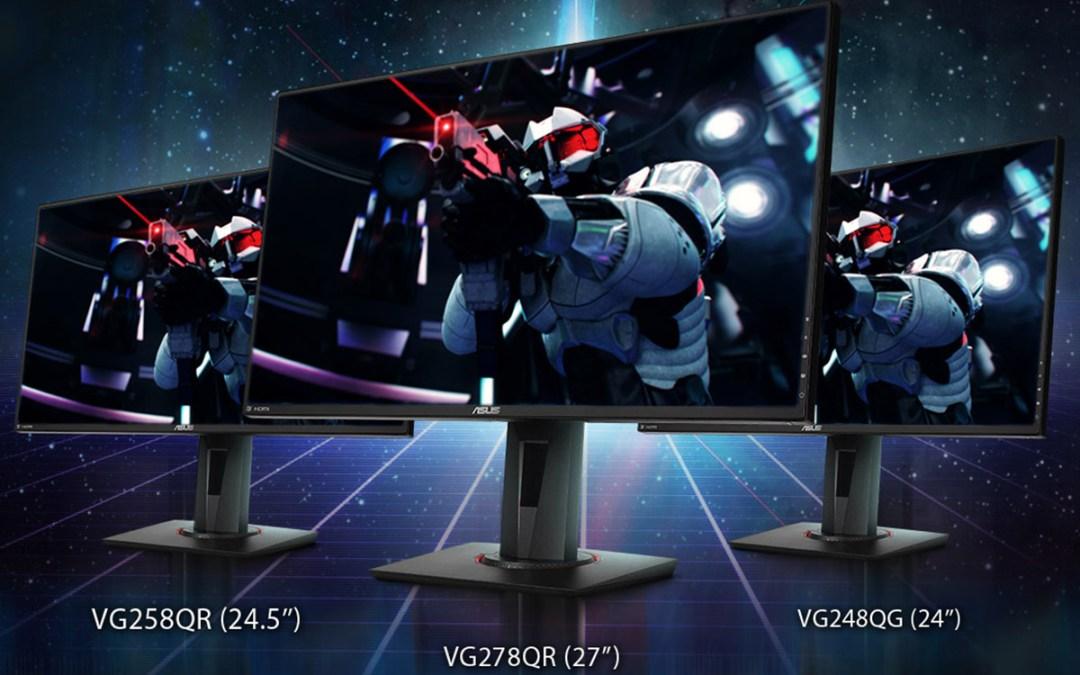 ASUS Announces Three New NVIDIA G-SYNC Compatible Gaming Monitors