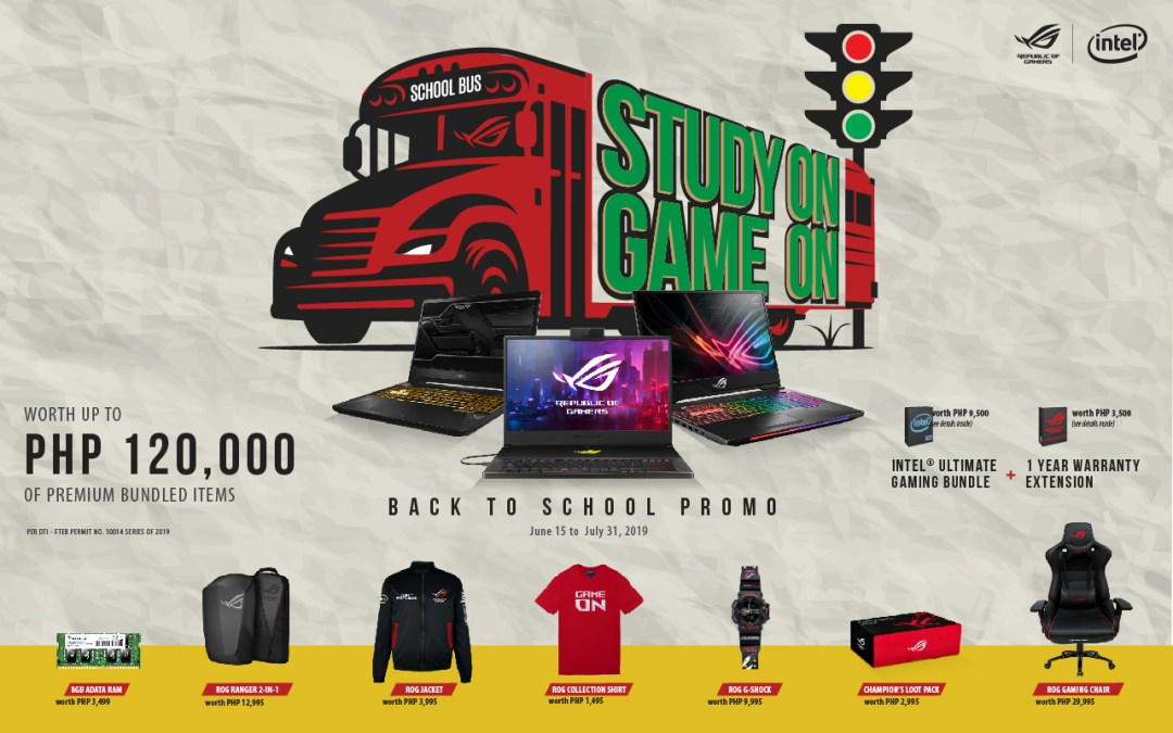 ASUS ROG welcomes the school year with the STUDY ON GAME ON promo