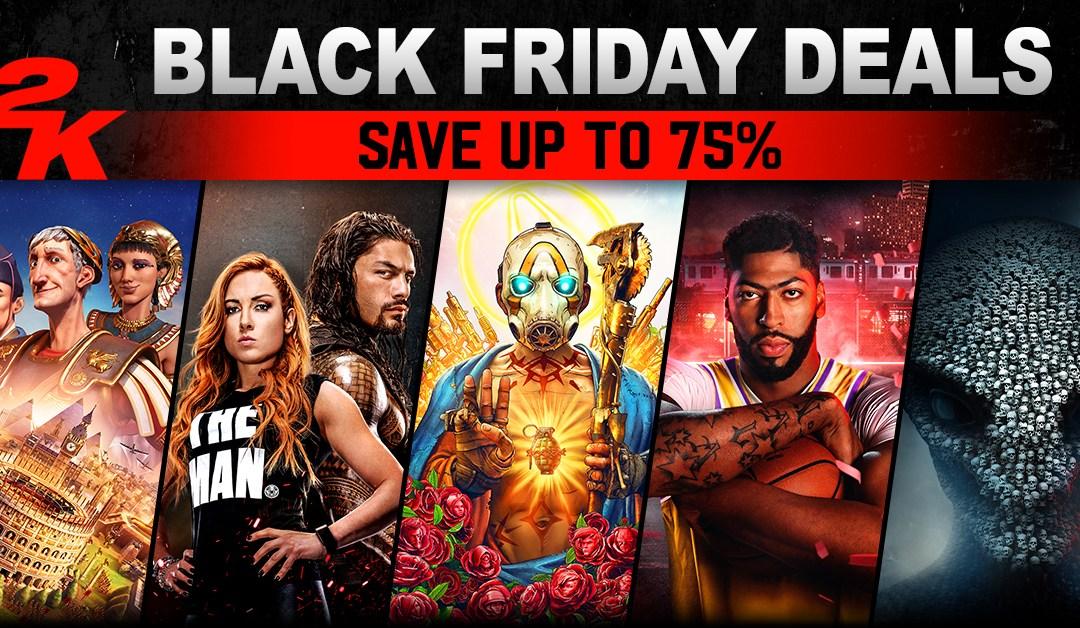 Blockbuster Deals on 2K's Biggest Games for  Black Friday 2019