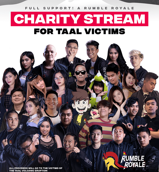 Rumble Royale Sets up a Charity Stream for the Taal Victims