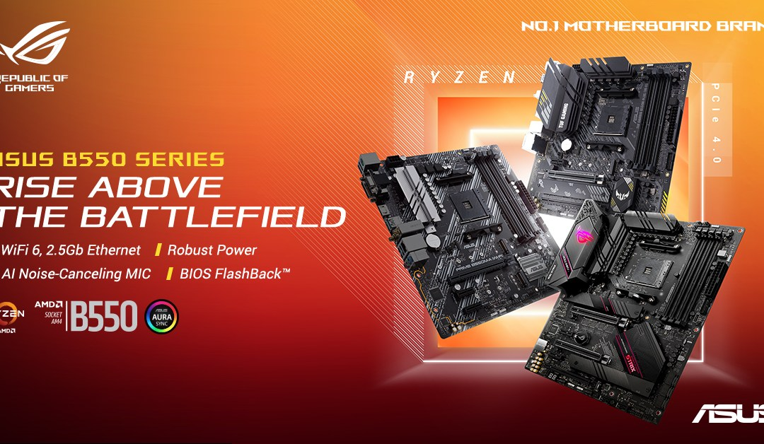 ASUS Announces Local Availability of AMD B550 Motherboards