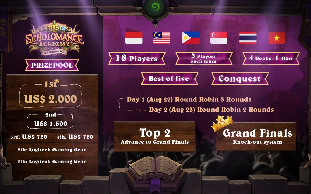 Hearthstone Scholomance Academy SEA Showmatch is coming this weekend
