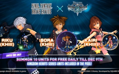 Final Fantasy Brave Exvius Second Collaboration with Kingdom Hearts Mobile Game