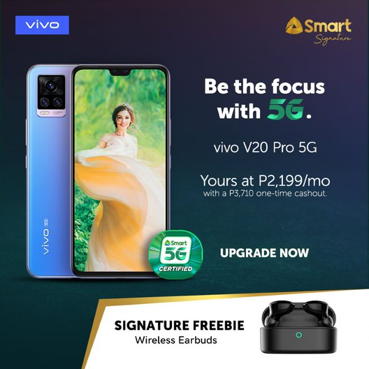 Thinnest 5G Smartphone vivo V20 Pro now available with Smart Signature Plans