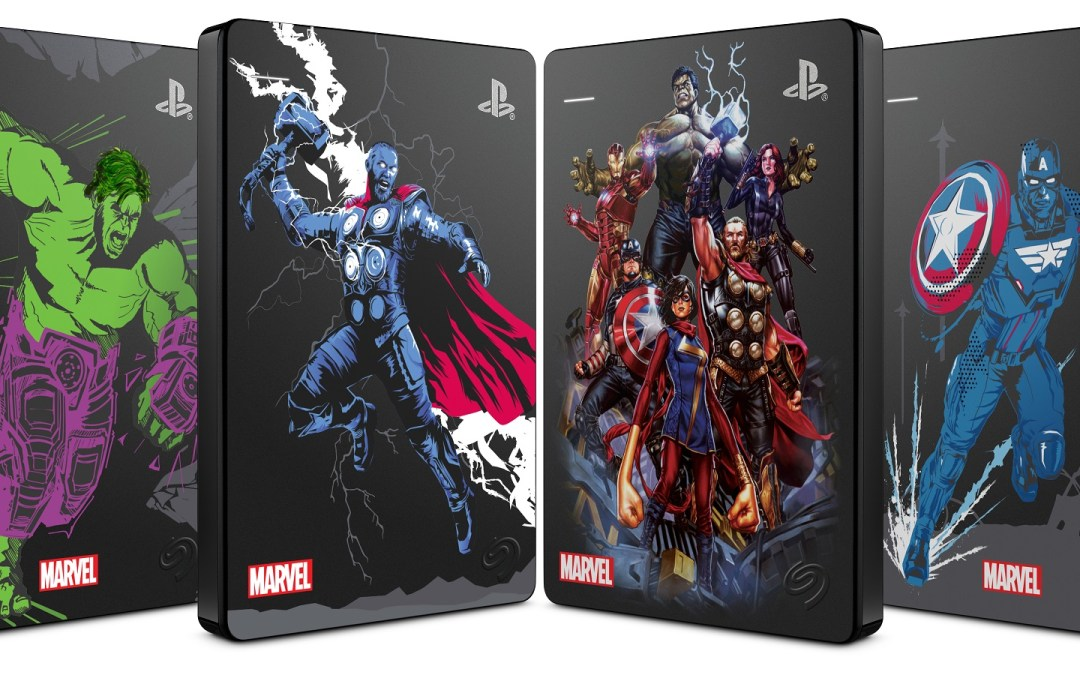 Defend the Marvel Universe with Seagate's Game Drive for PS4 Marvel Avengers Limited Edition