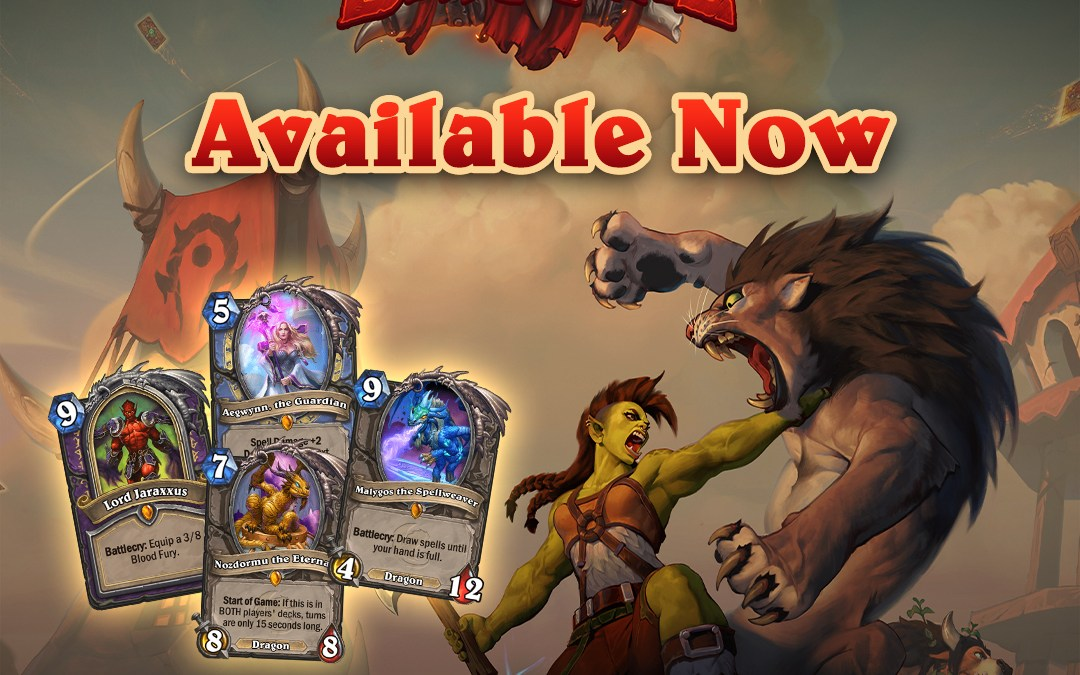 Hearthstone's Forged in the Barrens is Now Available