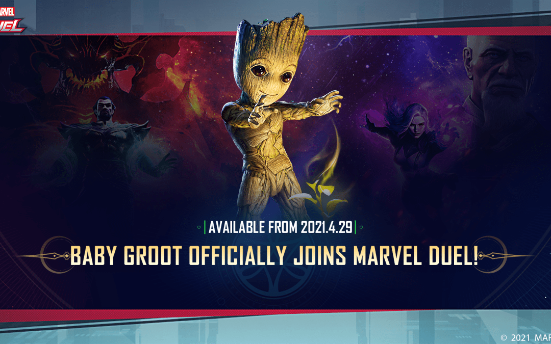 Baby Groot Joins the Battlefield in Marvel Duel with Captain Marvel Deck Rework