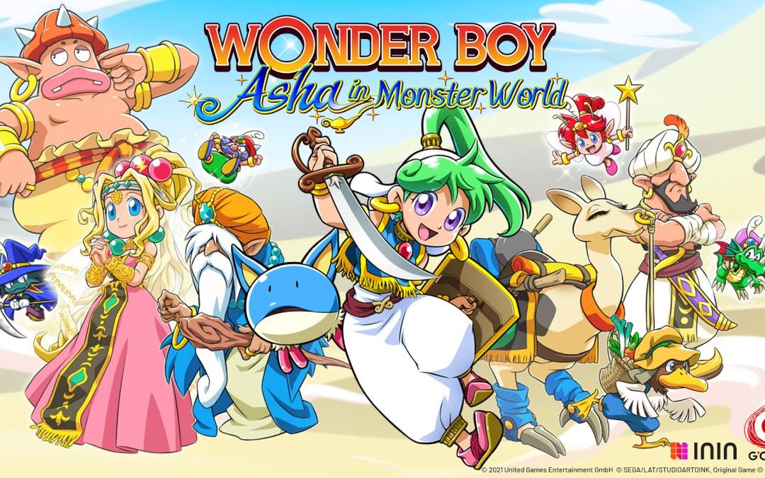 Wonder Boy: Asha in Monster World Arrives on PS4 & Nintendo Switch Tomorrow