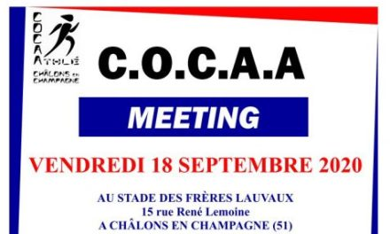 18 septembre 2020 – Meeting flash du COCA