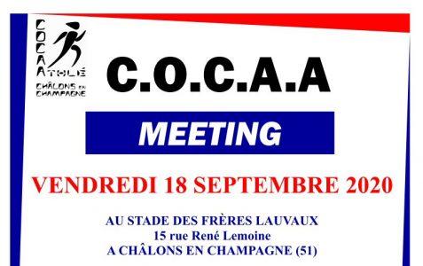 18 septembre 2020 – Meeting flash du COCA