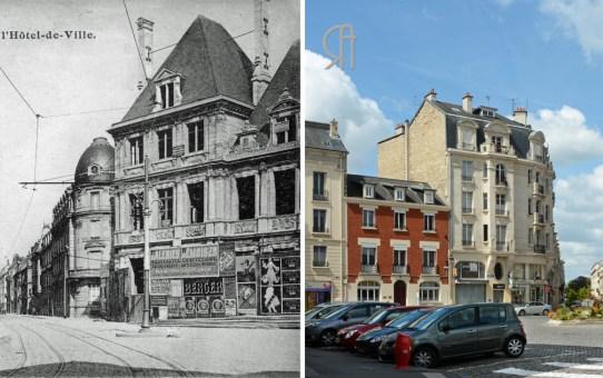 La Reconstruction : Place de l'Hôtel de ville et la rue Thiers
