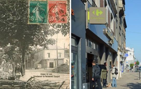 """Le """"Restaurant d'Espagne"""" avenue de Laon"""