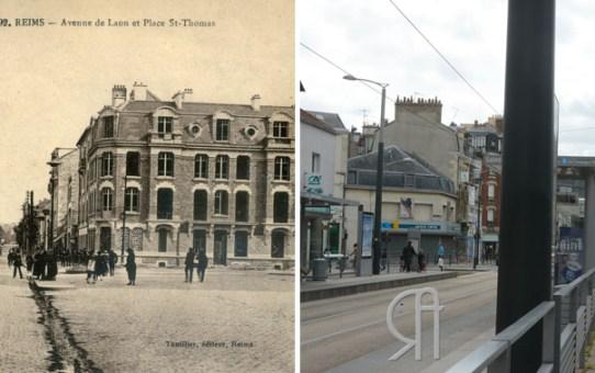 La reconstruction - Place Saint-Thomas