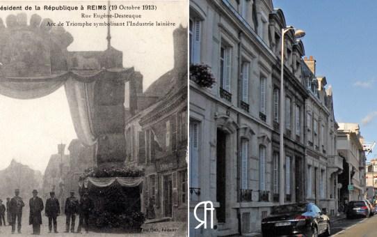 Rue Eugène Desteuque, visite de Raymond Poincaré