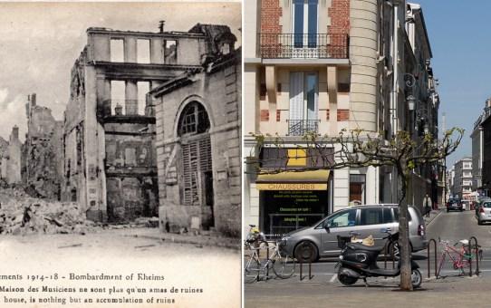 La rue de Tambour vue de la place de Forum (ancienne place des Marchés)