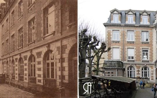 La cour d'honneur de l'École Notre-Dame, rue Saint-Pierre-les-dames