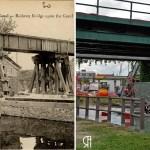 Le pont du chemin de fer sur le canal