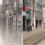 Inondation dans la rue de Vesle