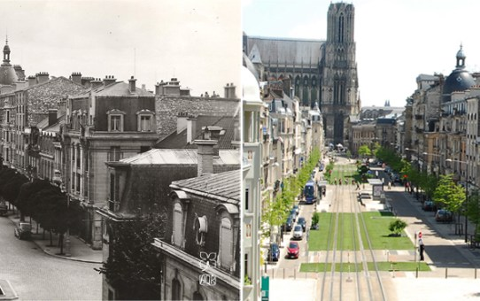 Cours Langlet depuis le dernier étage d'un immeuble de la rue Thiers