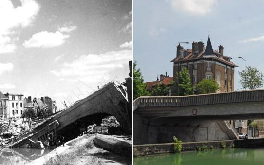 Le Pont de Vesle le 11 juin 1940 et le 29 août 1944