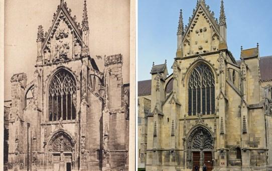 Le portail de la Basilique Saint-Remi en 1919
