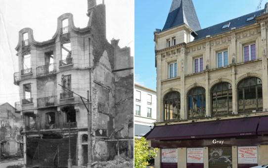 """L'immeuble """"Art-Nouveau"""" à l'angle des rues de Talleyrand et du Cadran-Saint-Pierre"""