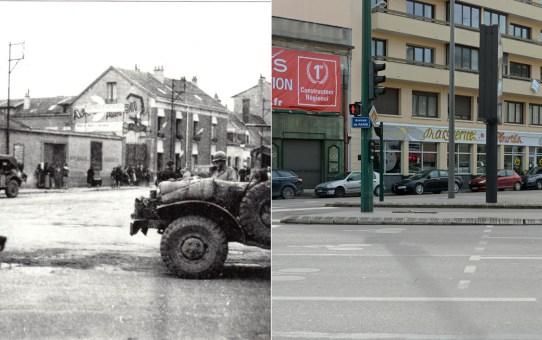 Libération de Reims le 30 août 1944 : des GI rue Martin-Peller